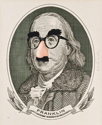 Lot 100 - Mr. Brainwash (French 1966-), 'Incognito (Franklin)', 2019