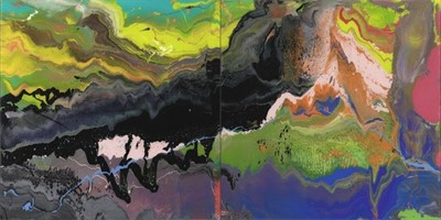 Lot 147 - Gerhard Richter (German 1932-), 'Flow (P16)', 2016