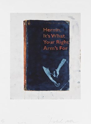 Lot 149 - Harland Miller (British 1964-), 'Heroin, It's What Your Right Arm's For', 2012