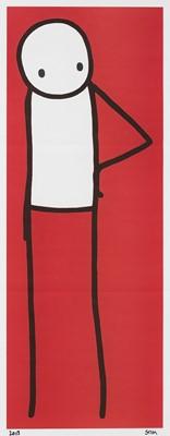 Lot 119 - Stik (British 1979-), 'Hip (Red)', 2013