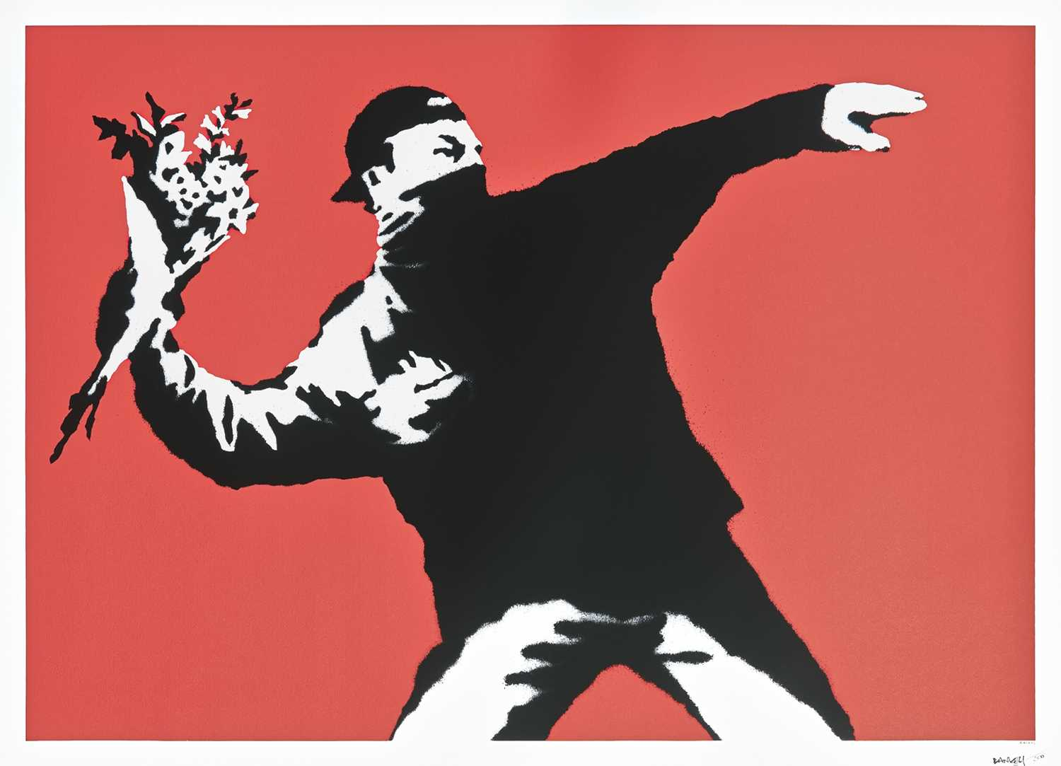 Lot 250 - Banksy (British 1974-), 'Love Is In The Air (Flower Thrower)', 2003