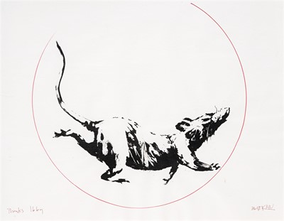 Lot 179 - Banksy (British 1974-), 'GDP Rat Gift Print', 2019