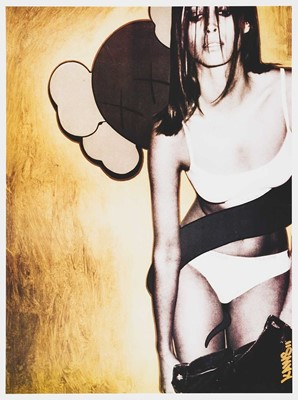 Lot 83 - Kaws (American 1974-), 'Christy Turlington, Tokion Poster', 1999