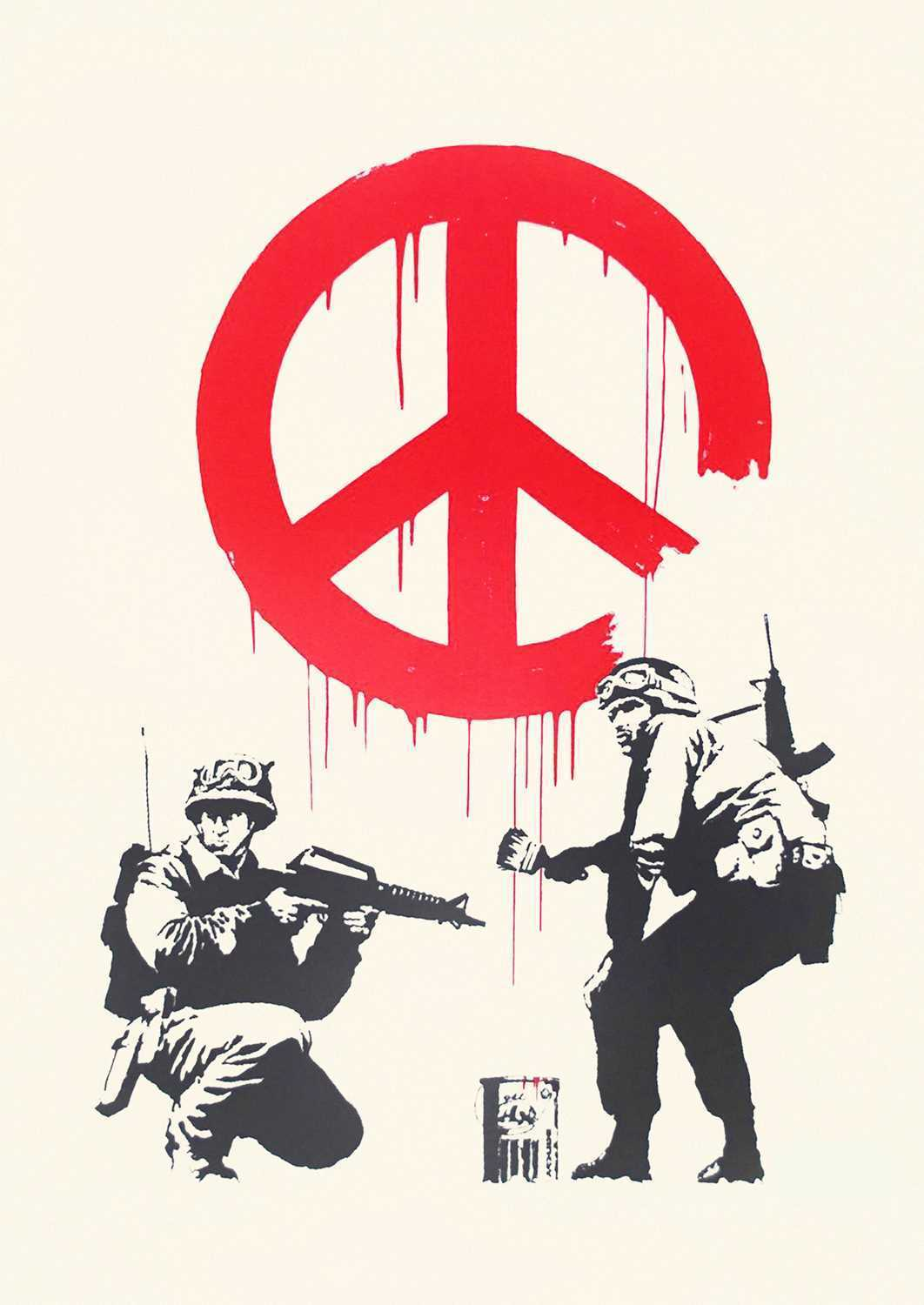 Lot 182 - Banksy (British 1974-), 'CND Soldiers', 2005