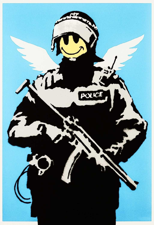Lot 242 - Banksy (British 1974-), 'Flying Copper', 2003