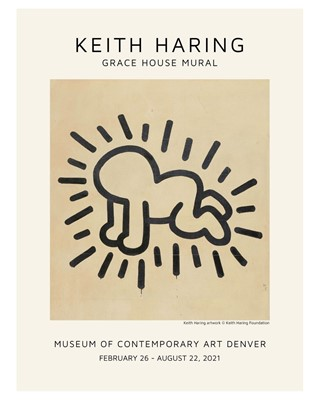 Lot 90 - Keith Haring (American 1958-1990), 'Grace House Mural', 2021