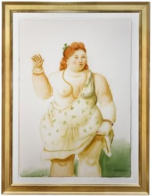 Lot 144a - Fernando Botero (Colombian 1932-), 'Woman Raising Her Skirt', 2009