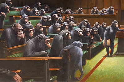 Lot 98b - Mason Storm (British 1966-), 'Monkey Parliament', 2020