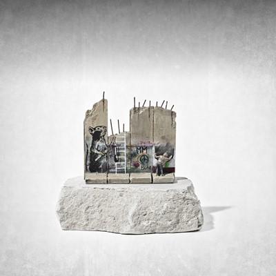 Lot 24 - Banksy (British 1974 -), 'Walled Off Hotel - Slingshot Rat'