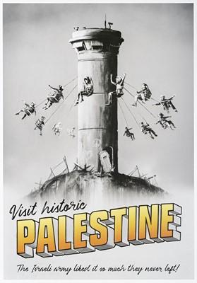 Lot 11 - Banksy (British 1974-), 'Visit Historic Palestine', 2018