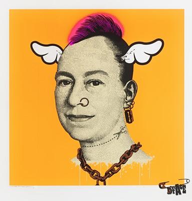 Lot 41 - D*Face (British 1978-), 'More Punk Than You Punk (Pink, Orange & Yellow)', 2009 (3 Works)