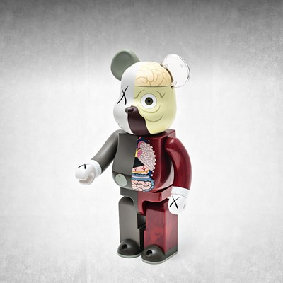 Lot 73 - Kaws (American 1974-), 'Dissected Companion Bearbrick 400% (Red)', 2008