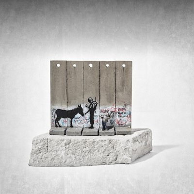 Lot 22 - Banksy (British 1974 -), Walled Off Hotel - Five Part Souvenir Wall Section (Donkey Documents)