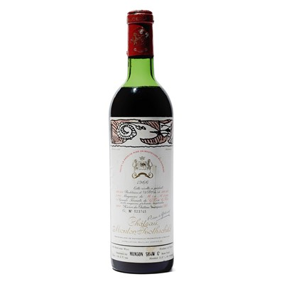 Lot 23 - 1 bottle 1966 Ch Mouton Rothschild