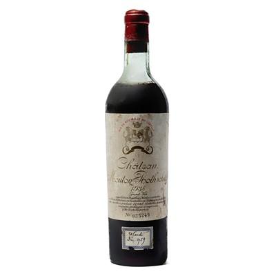 Lot 7 - 1 bottle 1938 Ch Mouton Rothschild