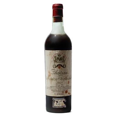 Lot 6 - 1 bottle 1938 Ch Mouton Rothschild