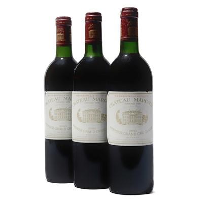 Lot 59 - 3 bottles 1986 Ch Margaux