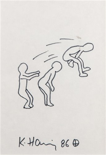 Lot 469 - Attributed to Keith Haring (American 1958-1990), untitled, 1986