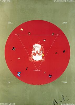Lot 57 - Damien Hirst (British 1965-), 'Death of God, Galeria Hilario Galguera', 2006