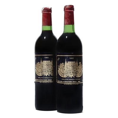 Lot 56 - 2 bottles 1982 Ch Palmer