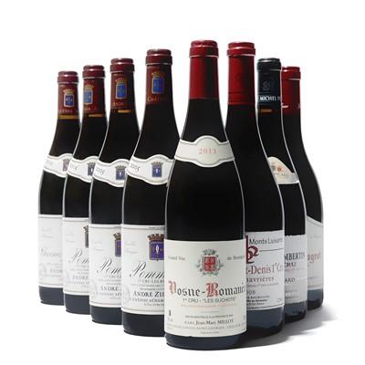 Lot 93 - 8 bottles Mixed Red Burgundy