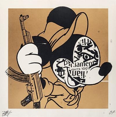 Lot 36 - BAST (American 1952-2021), 'Revolution Mickey (Gold)', 2007