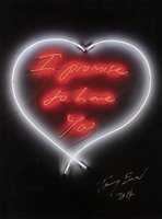 Lot 134 - Tracey Emin (British b.1963), 'I Promise To Love You', 2014