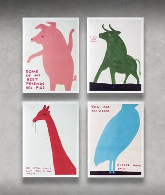 Lot 62 - David Shrigley (British 1968-), 'Animal Series', 2020