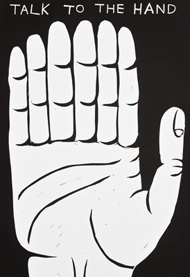 Lot 64 - David Shrigley (British 1968-), 'Talk To The Hand', 2021