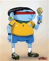 Lot 182 - Cranio (Brazialian b.1982), 'Brazilian Footballer', 2013