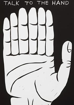 Lot 53 - David Shrigley (British 1968-), 'Talk To The Hand', 2021