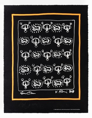 Lot 77 - Keith Haring & Eric Orr (Collaboration), 'Repeat', 2020