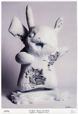 Lot 59 - Daniel Arsham (American 1980-), 'Blue Calcite Crystallized Pikachu Exhibition Poster', 2021