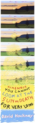 Lot 48 - David Hockney (British 1937-), 'Remember That You Cannot Look At The Sun Or Death For Very Long', 2021