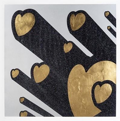 Lot 90 - Ryan Callanan (British 1981-), 'Love Beams (Gold Leaf)', 2018
