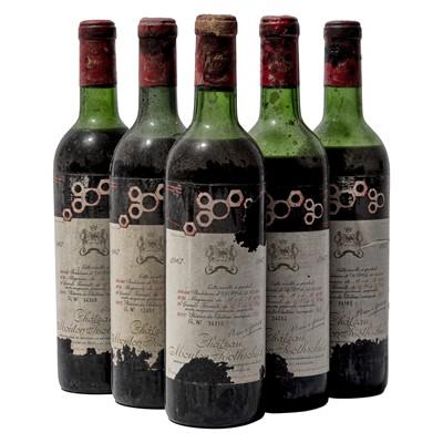 Lot 76 - 9 bottles 1967 Ch Mouton-Rothschild