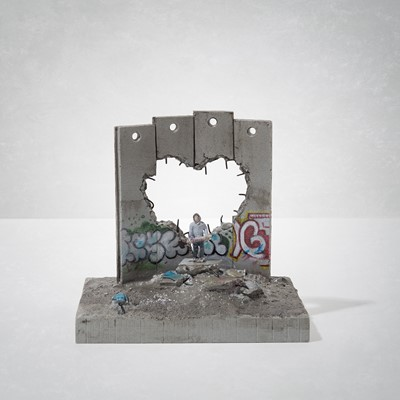 Lot 5 - Banksy (British 1974 -), 'Walled Off Hotel - Four-Part Defeated Wall Section (Love Hurts)'