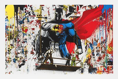 Lot 83 - Mr Brainwash (French 1966-), 'Batman Vs Superman', 2016