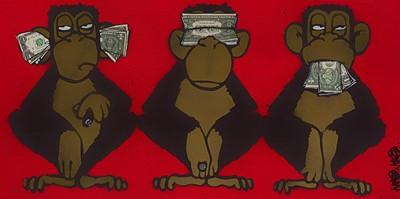 Lot 81 - Mau Mau (British), '3 Monkeys'