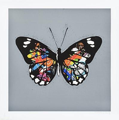 Lot 80 - Martin Whatson (Norwegian 1984-), 'Butterfly (Grey)', 2017