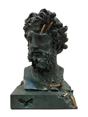 Lot 5 - Daniel Arsham (American 1980-), Bronze Eroded Jupiter, 2020