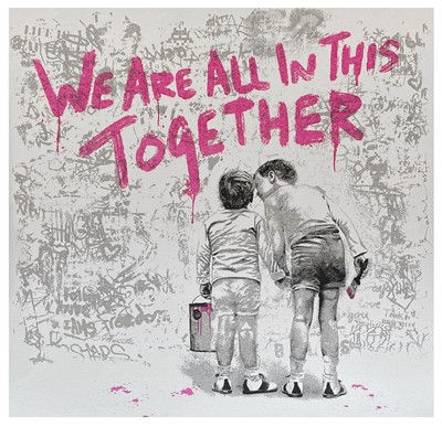 Lot 11 - Mr Brainwash (French 1966-), We Are All In This Together (Fuschia), 2020