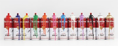 Lot 26 - Mr Brainwash (French 1966-), Spray Cans (complete set of 12 works), 2013