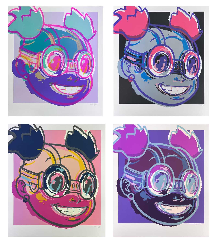 Lot 34 - Hebru Brantley (American 1981-), Lilac Portfolio (Set of Four), 2020