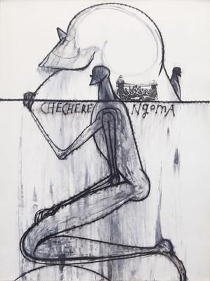 Lot 41 - José Bedia (Cuban 1959-), Future Life, 1996