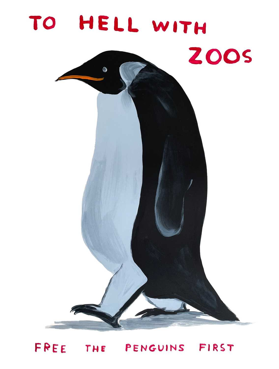 Lot 42 - David Shrigley (British 1968-), To Hell with Zoos, 2021