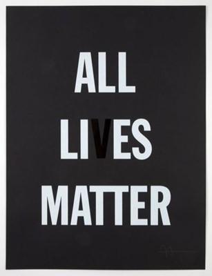 Lot 71 - Hank Willis Thomas (American 1976-), All Li es Matter, 2019