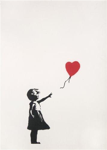 Lot 521-Banksy (British b.1974), 'Girl With Balloon', 2004