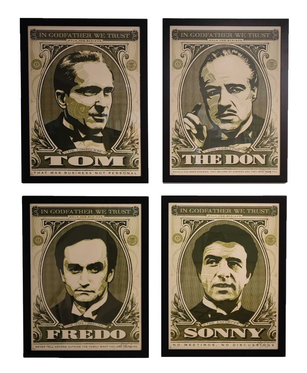 Lot 47 - Shepard Fairey (American 1970-), The Godfather Series (Set of Four), 2006