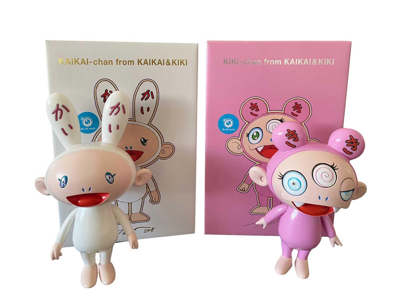 Lot 94 - Takashi Murakami (Japanese 1962-), KAIKAI & KIKI (Blue Eyes), 2019